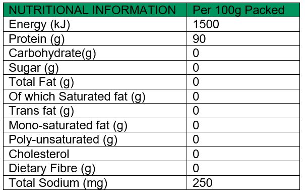 Collagen Hydroysate Nutritional Values